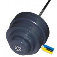Штанга наборная, композитная Newt Rock 122 кг NE-KP-180-122
