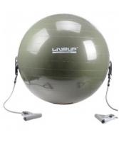 Мяч для фитнеса LiveUp с эспандером 65 см