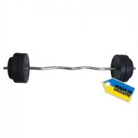 Штанга наборная Newt Rock 30 кг w-образный гриф NE-KW-120-030